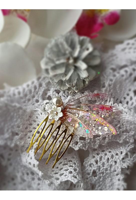 Peigne féerique or plaqué