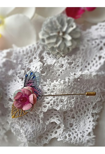 Broche épingle féerique or plaqué